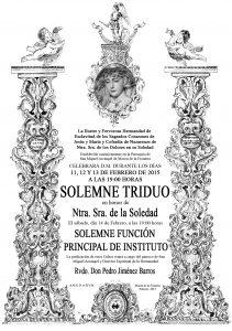 TRIDUO SOLEDAD 2015